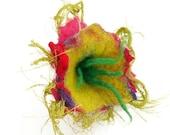 Sweet little felted flower corsage