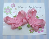 Set of 2 Butterfly Bows You Pick the Colors