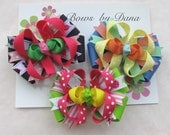 Set of  2 M2M M2MG Boutique Toddler Size Custom Hair Bows You Pick Colors