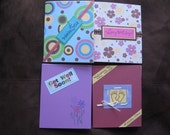 Set of 4 Different Greeting Cards