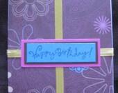 Simple Floral Birthday Card