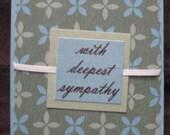 4x5 Sage and Blue Sympathy Card