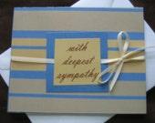 5x4 Blue and Tan Sympathy Card