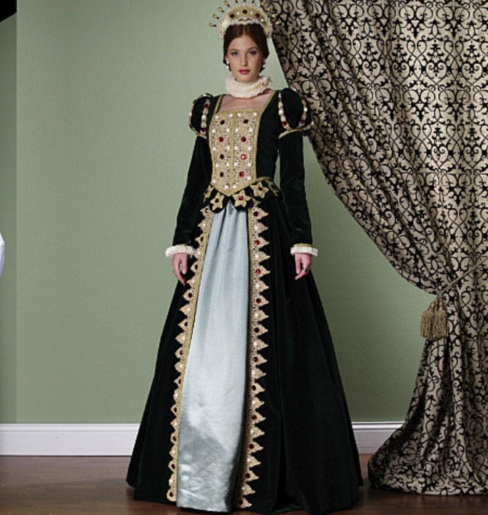 Renaissance Faire Wedding Dress Gown Costume History Mccalls: New Renaissance/Elizabethan Costume Sewing Pattern 5440