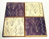 Coasters  Tile Coaster Set   Drink Coaster  Funky Coasters in  Natural