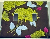 Switchplate - Chrysanthemum Olive -Double (309)