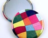 Pocket Mirror  Purse Makeup Cosmetic Mirror in Tutti Frutti  (PM12)