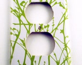 Light Switch Plate Wall Decor Light Switch Cover Outlet in  Green Grass   (128O)
