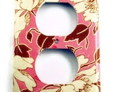 Light Switch Cover Wall Plates Switchplate  Outlet Plate in  Tree Peony Pink  (310O)