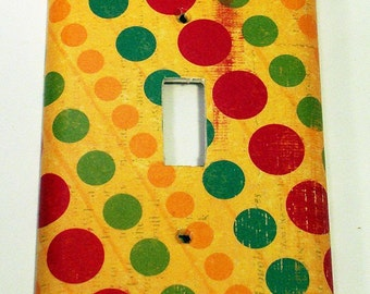 Light Switch Cover Wall Decor  Switchplate Switch Plate in  Dottie  (148S)
