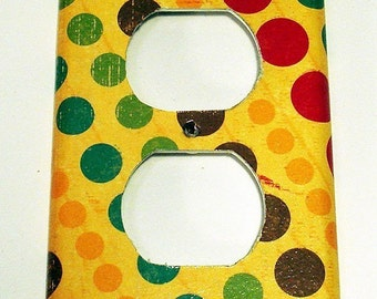 Light Switch Cover  Wall Decor Switch Plate Switchplate Outlet in  Dottie (148O)