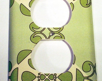 Light Switch Plate Switchplate  Light Switch Cover  Wall Decor  Outlet Plate in  Eco Chic  (102O)