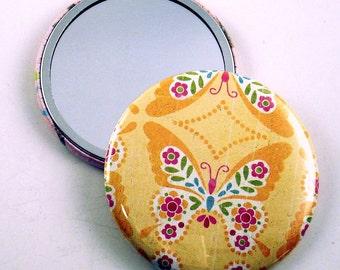 Pocket Mirror  Cosmetic Purse Makeup Mirror in   Sunshine (PM3)