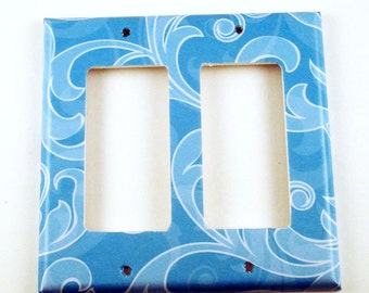 Blue Light Switch Cover Switch Plate Cool Breeze Rocker Double (129DR)