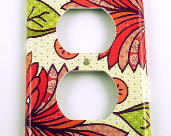 Outlet Light Switch Cover Wall Decor Switchplate  Switch Plate in  Marmalade   (115O)