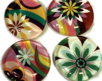 Glass Refrigerator Magnets  Funky Magnets in  Wild Flower (M38)
