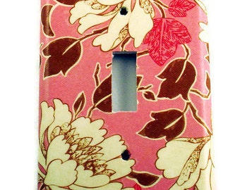 Light Switch Cover Wall Decor Switchplate in Tree Peony Pink (310S)