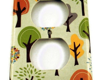 Light Switch Cover Wall Decor Switchplate  Outlet Cover  in  Grateful Tree Farm Outlet  (118O)