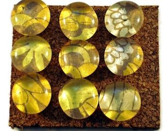 Decorative Thumb Tacks Funky Push Pins Cork Board Pins in   Buttercup (P04)