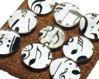 Decorative Glass Push Pins  Thumb Tacks Cork Board Tacks in  High Note (PP44)