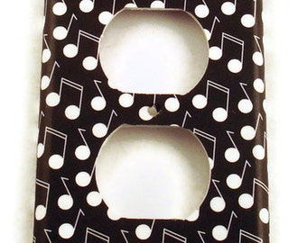 Light Switch Cover Wall Decor Switchplate Outlet Plate in Melody   (177O)