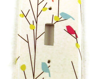 Light Switch Cover  Wall Decor  Single Switchplate  Switch Plate in  Tweets (260S)