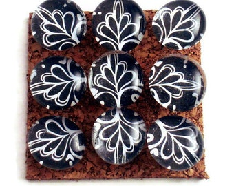 Cork Board Pins Decorative Push Pins  Thumb Tacks Pushpins in Black Lace  (PP64)