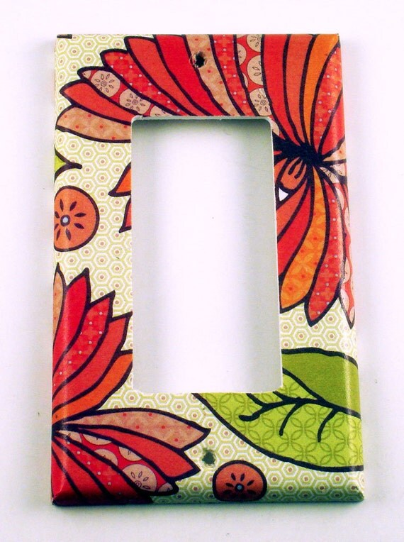 Light Switch Cover Switchplate Wall Decor  Rocker Switch Plate in  Marmalade (115R)