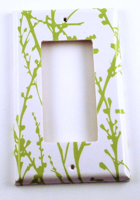 Switchplate  Rocker Light Switch Cover in  Green Grass  (128R)