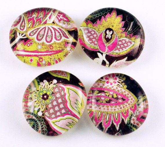 Funky Glass Fridge Magnets  in Sultry   (M05)
