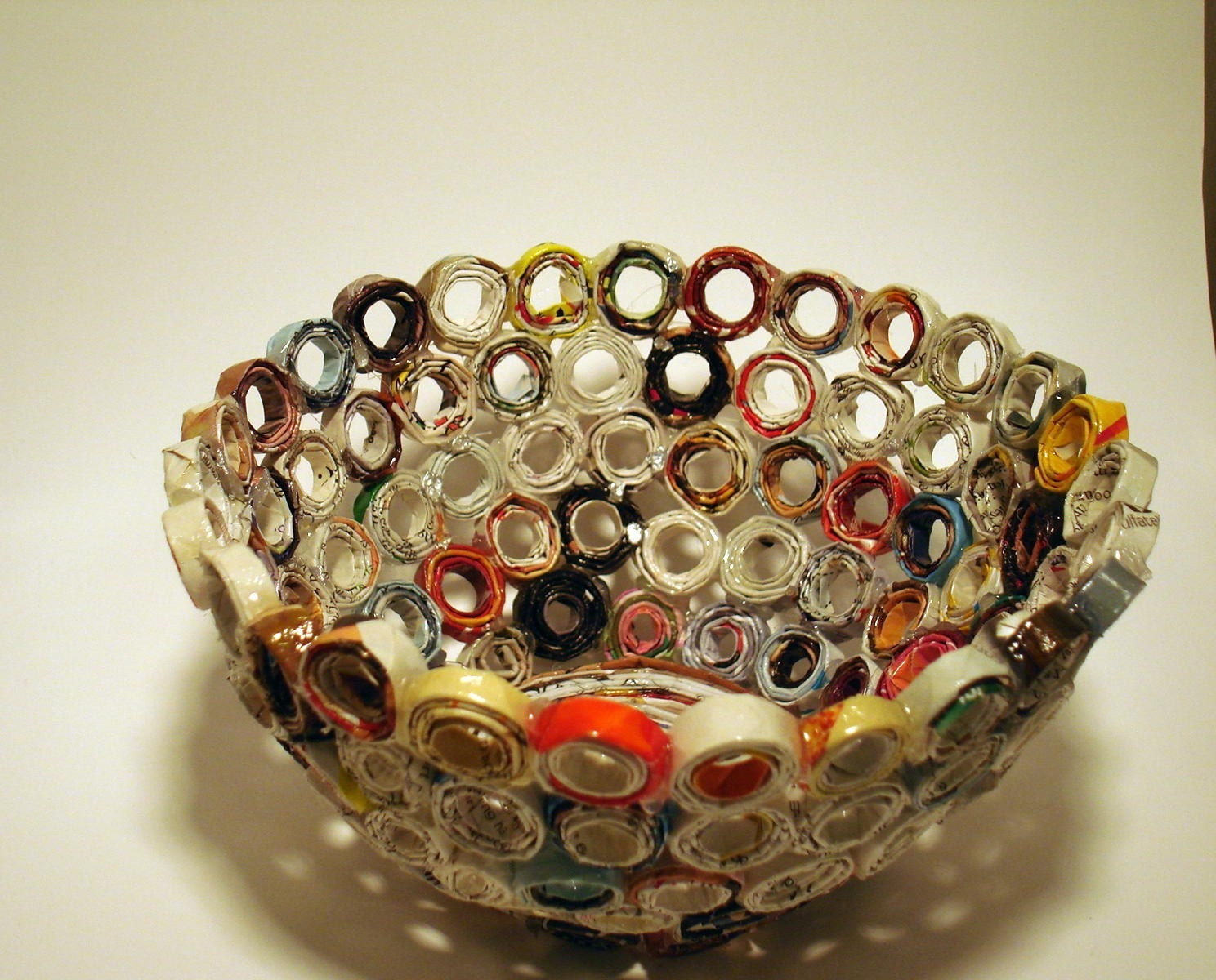 Recycled magazine bowl for How to make a newspaper bowl