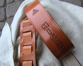 Personalized Adjustable Leather Guitar Strap