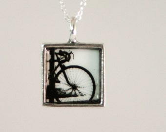 Bike in NYC Photo Necklace