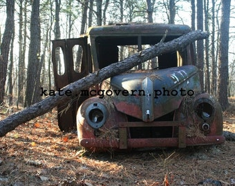 READY TO SHIP: Truck in the Woods 8x10