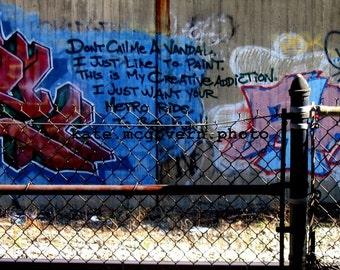 READY TO SHIP: dc Graffiti 8x10 matte photo