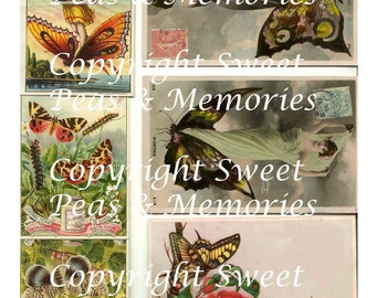 Butterfly One Digital Collage Sheet
