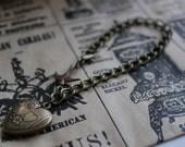 My Funny Valentine -  Heart Swallow Charm Bracelet