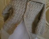 Crocheted Jacket in Wool