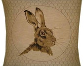 Rabbit in Frame Right Tapestry Cushion Cover Sham