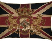 Union Jack Pride Honour Honesty Tapestry Cushion Pillow Cover