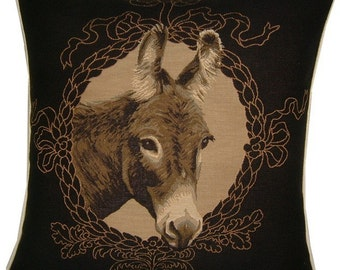 Donkey Mule Woven Tapestry Cushion Cover Sham