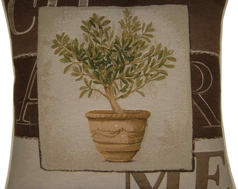 Charme Tree in Pot Design No 1 Tapestry Cushion Cover Sham