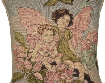 Flower Fairies Apple Blossom Tapestry Cushion Pillow from the books of Cicely Mary Barker