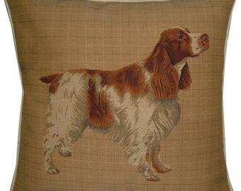 Spaniel Orange Roan Woven Tapestry Cushion Cover Sham