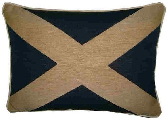 Scottish Scotland Flag Woven Tapestry Cushion Pillow