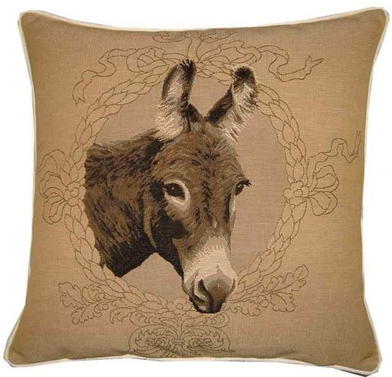 Donkey Head Woven Tapestry Cushion Cover Pillow Sham