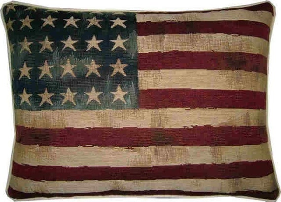 Vintage Style Usa Stars And Stripes American Flag Woven