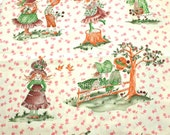 Vintage Cotton Novelty Holly Hobby Like Fabric