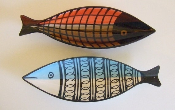 Vintage Raymor Italy Modernist Mid Century Fish Bowls