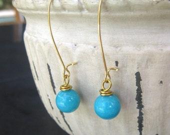 Golden  Blossom Dangle Earrings